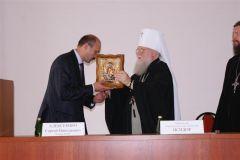 В Краснодарском государственном медицинском университете прошла встреча с Митрополитом Исидором