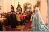 Божественную Литургию в свято-Георгиевском храме возглавил митрополит Исидор