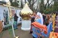 Митрополит Исидор освятил Крест и купол для временного храма Всех Святых возрождающегося прихода